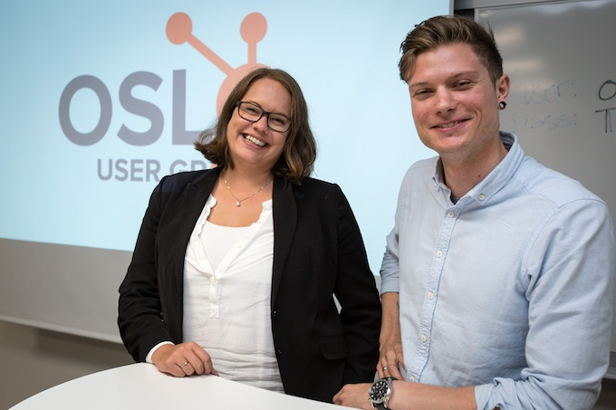 Maria_Willoch og Christoffer Bertilsson på HubSpot User Group Oslo
